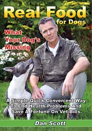 Dan Scott on the cover of his book Real Food for Dogs