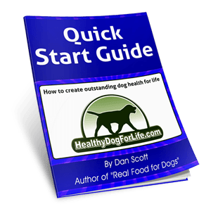 Qucik Start Guide for Dan Scott's book Real Food for Dogs